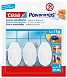 Tesa 57533-00017-01Powerstrips Small, Klebehaken, oval, weiß