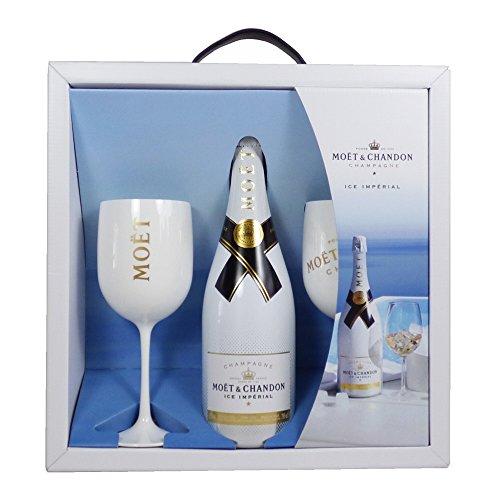 Moet et Chandon Eis Imperial Sharing Geschenk Set mit 2 Gläser - Geschenkideen für Geburtstag, Hochzeit, Jubiläum und Coporate