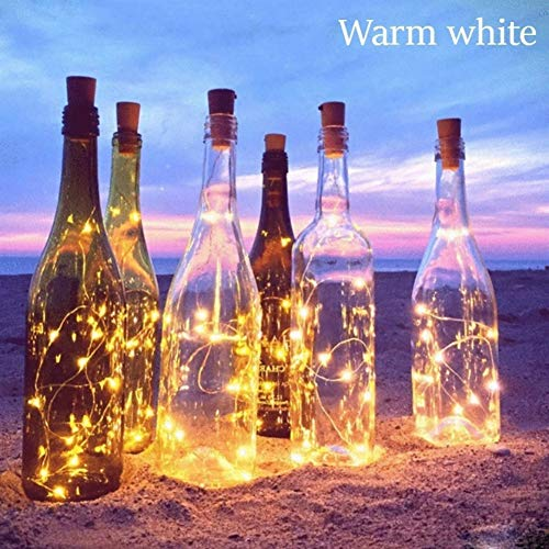 Handfly Feux de Bouteille de vin avec Bouchon de liège, à Piles Guirlande Lumineuse Fil de cuivre Fée Guirlande Lumineuse pour DIY, fête, décoration, Noël, Halloween, Mariage,