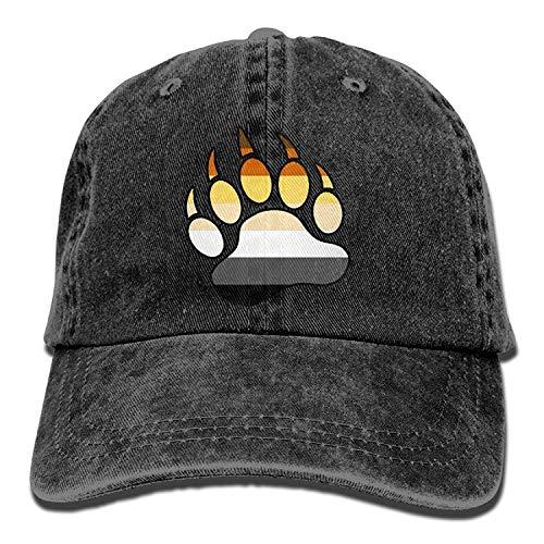 Bikofhd Gay Bear Pride Paw Unisex Denim Bucket Hat Comfortable Visor Caps C1