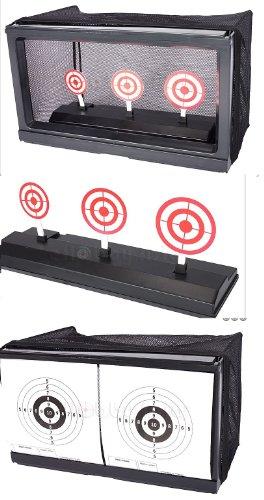 Softair Automatik Schiess-Stand inkl. Kugelfang + 500 Kugeln