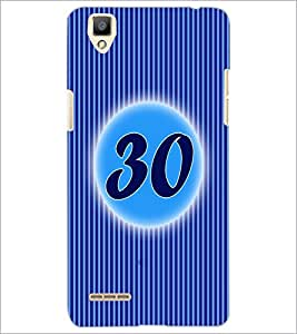 PrintDhaba Numerology Number 30 D-2589 Back Case Cover for OPPO F1 (Multi-Coloured)