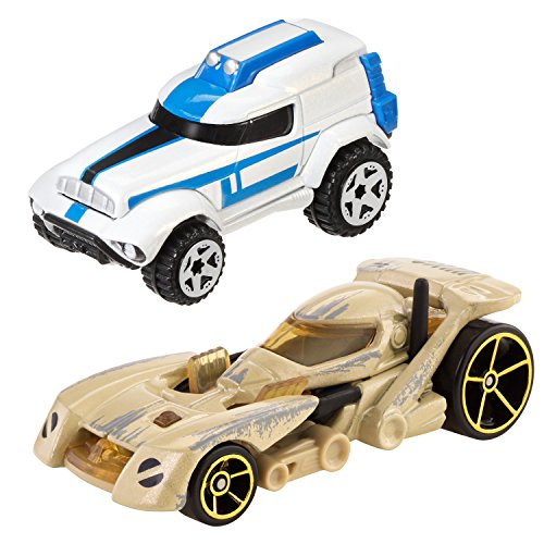 Hot Wheels Star Wars Character Car 2-Pack, Battle Droid and Clone Trooper New