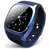 Smart Watch Bluetooth Armbanduhr Telefon kompatibel für Android (Full Funktion) für iPhone (Teil-Funktion) mit Mikrofon Barometer Höhenmesser besser als U8Armbanduhr