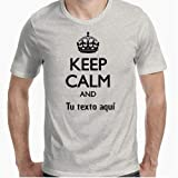 Camiseta - diseño Original - Keep Calm (editable) - XL