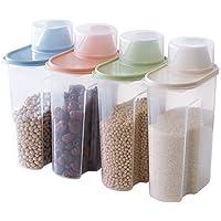 JER 1 Pack de Grande capacité Airtight Alimentaire Sec Conteneur Durable Céréales Boîte de Rangement de Cuisine…
