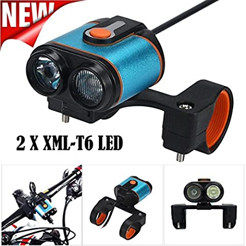 WYXlink 2017 2 x XML T6 LED 4 Modes Bicycle Lamp Bike Light Headlight Cycling Torch (Torch Light 2)