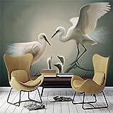 YUANLINGWEI Fototapete Tapeten Moderne Benutzerdefinierte Jeder Größe 3D Tier Vogel Familie Muster Foto Wandbild Wallpaper Hintergrund Für Bettwäsche Raum,100Cm (H) X 200Cm (W)