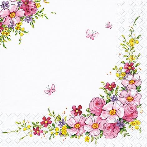 20 Servietten Cute Flowers - Hübsche Blumen / Frühling 33x33cm