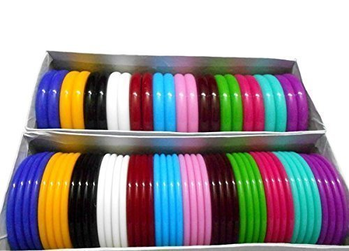 Am Goelx Plastic Bangle Full Boxes Set Big Size 2.10 big size for women
