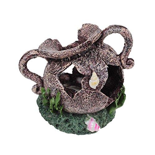 Unbekannt Zerbrochene Vase Topf Fisch Garnelen Versteck Hoehle Aquarium Ornament Dekor Harz