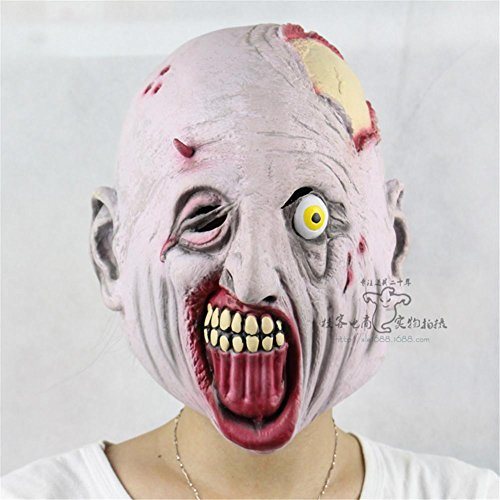 SQCOOL Latex Übelkeit Funny Thriller Maske Hooded Halloween Performances (Diy Thriller Kostüm)