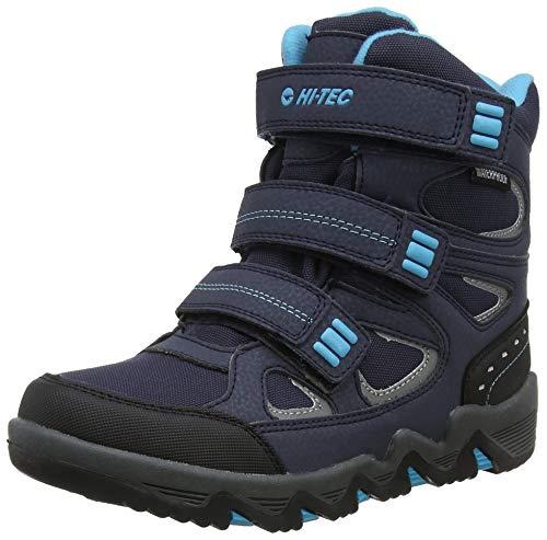 Hi-Tec Thunder Waterproof Junior, Stivali da Escursionismo Alti Bambino, Blu (Navy/Turquoise/Black 31), 38 EU