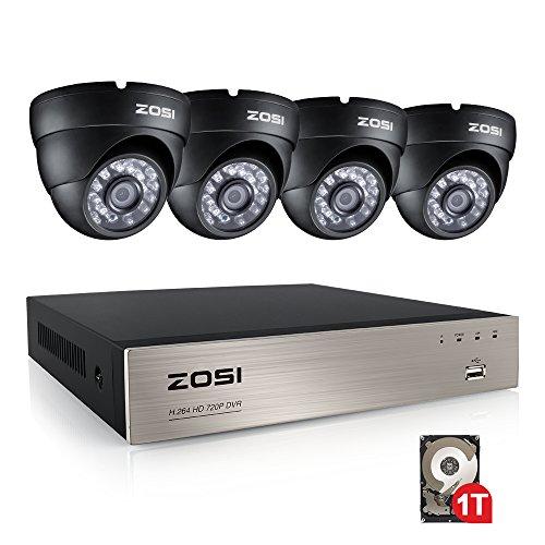 ZOSI CCTV Aussen Video Überwachungskamera System Dome Kamera Set
