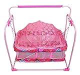 #1: BabyGo Baby Cutie Cradle Mobile Swing (Pink)