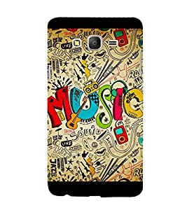 Music Graffiti 3D Hard Polycarbonate Designer Back Case Cover for Samsung Galaxy On5 Pro (2016) :: Samsung On 5 Pro