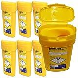 Qualicare Sharps Safe ago siringhe insulina chirurgia smaltimento rifiuti Bin box–0.6litri, 6pezzi