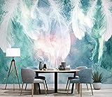 Fototapete 3D Effekt Tapete Nordische Tinte, Feder - Hintergrund - Wand Vliestapete 3D Wallpaper Moderne Wanddeko Wandbilder