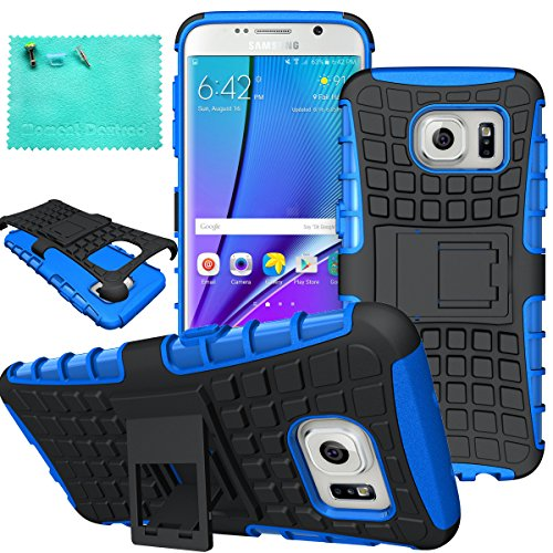 Galaxy S7Edge Fall, Samsung Galaxy S7Edge Fall, Moment dextrad Dual Layer Defender mit Ständer Schutz Case für Samsung Galaxy S7Edge (2016), Blau (Dies Ist Halloween Girl Cover)