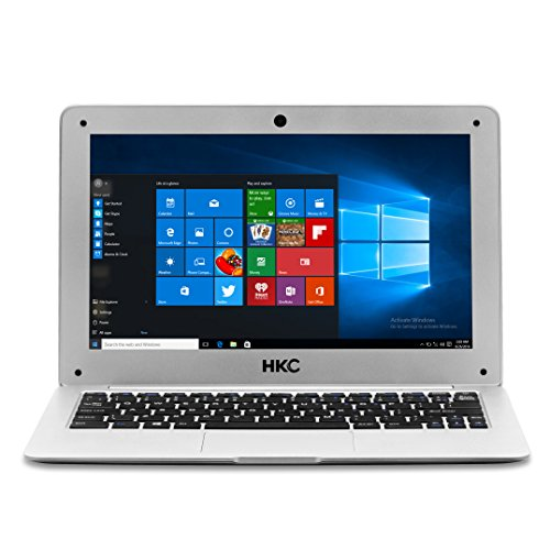 HKC NT11H-UK 11.6 inch IPS display Notebook, 2GB DRAM, 32GB eMMC Flash Storage, USB 3.0, (Intel Atom Quad Core, x5 Z8350 CPU, Burst Frenquency 1.92GHz, Intel, English Windows 10 Home, 64 bit), UK Keyboard, UK Power Adapter, Silver