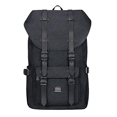 Rucksack Damen Herren Vintage Studenten Backpack KAUKKO 17 Zoll Laptop Rucksack für 15