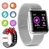 Fitness Tracker Smartwatch- Activity Tracker Bluetooth Impermeabile IP69 con Sport Pedometro Monitor Contapassi e Contacalorie Monitoraggio del Sonno Notifiche Informazioni per Android & IOS