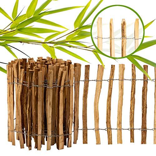 BooGardi Imprägnierter Staketenzaun Haselnuss - Gartenzaun aus Holz in 12 Größen als Rollzaun für Ihren Garten