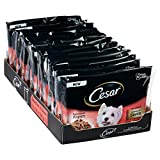Cesar Deliciously Fresh Wet Dog Food for Adult dogs 1+ Favourites in Sauce, 52 Pouches (52 x 100 g)