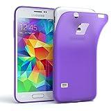 EAZY CASE GmbH Hülle für Samsung Galaxy S5 Mini Schutzhülle Silikon, matt & Ultra dünn, Slimcover, Handyhülle, Hülle/Soft Case, Silikonhülle, Backcover, Lila