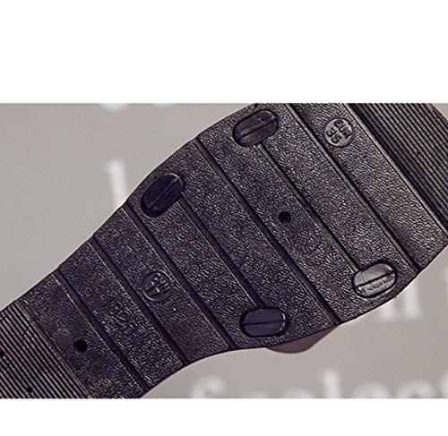 Sandali Tacco Basso Fibbia Della Cintura Di Moda Black