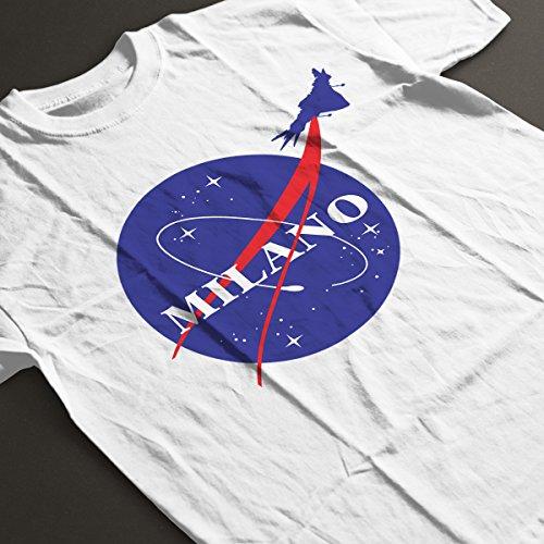 Guardians Of The Galaxy Milano Nasa Logo Men's T-Shirt White