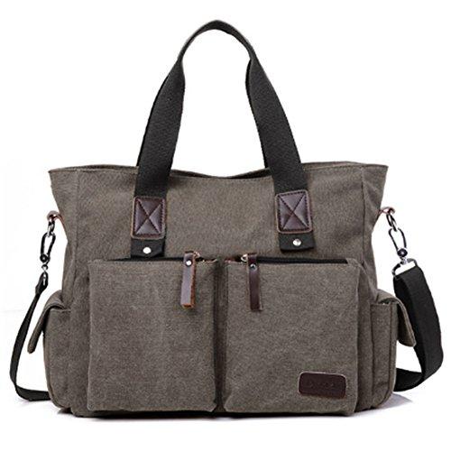 Preisvergleich Produktbild TYJH Männer Vintage Leinwand Schulter Große Kapazität Diagonal Reisetasche (16 cm * 38 cm * 28 cm),Gray