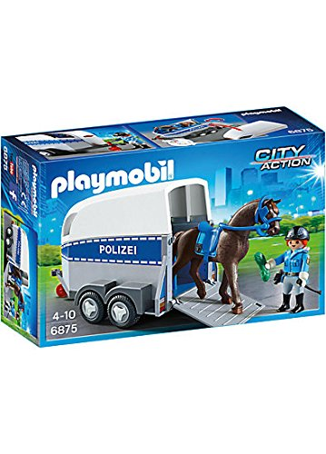 PLAYMOBIL 6875 Police horse with Trailer