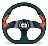 Simoni Racing X2330PUN/PR Volante Sportivo X2 Poly Pelle Universale, Nero e Rosso