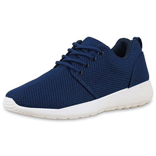 SCARPE VITA Damen Sportschuhe Trendfarben Runners Sneakers Laufschuhe 165340 Dunkelblau 39