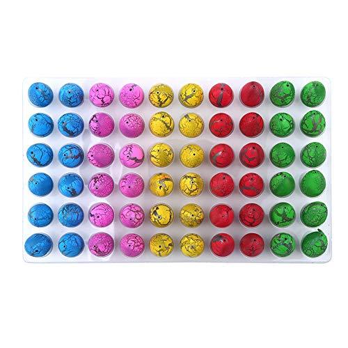 Zerodis Dinosaurier Eier Magic Water Ostern Eier Kinder Pädagogisches Spielzeug Aufblasbar Wachsende Eier für Party Supplies 60Pcs(#2)
