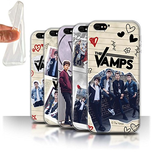 Offiziell The Vamps Hülle / Gel TPU Case für Apple iPhone 6+/Plus 5.5 / Pack 5Pcs Muster / The Vamps Doodle Buch Kollektion Pack 5Pcs