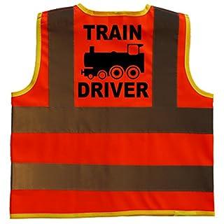 Train Driver Baby/Children/Kids Hi Vis Safety Jacket/Vest Size 1-2 Years Orange Optional Personalised On Front