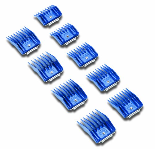 Andis Plastic Blade Comb Sets, 9 Pieces, Small 1