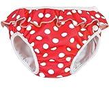 ImseVimse-Maillot de bain couche lavable rouge à pois (9-12 kg) - Rouge