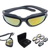 Polarisiert Fahren Reiten Linse Sonnenbrille mit 4 Objektiv für Motorrad