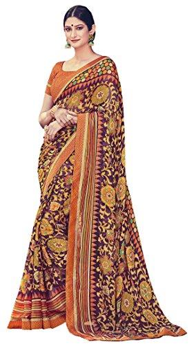 Multicolour Colour Brasso Saree