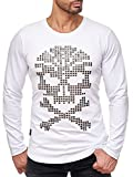 Red Bridge Herren Sweatshirt Langarmshirt 3D Skull Motiv Sweater