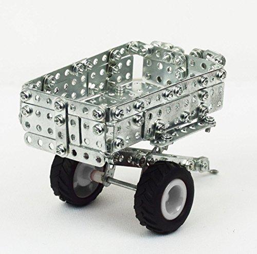 RC Auto kaufen Traktor Bild 6: Tronico 09561 - Metallbaukasten Traktor New Holland T5-115 mit Kippanhänger und Fernsteuerung, Maßstab 1:64, Micro Serie, blau, 454 Teile*