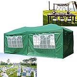 HG® Falt Pavillon 3x6m Gartenpavillon Grün Partyzelt Pavillon Zelt Garten Pavillion faltpavillon wasserdicht