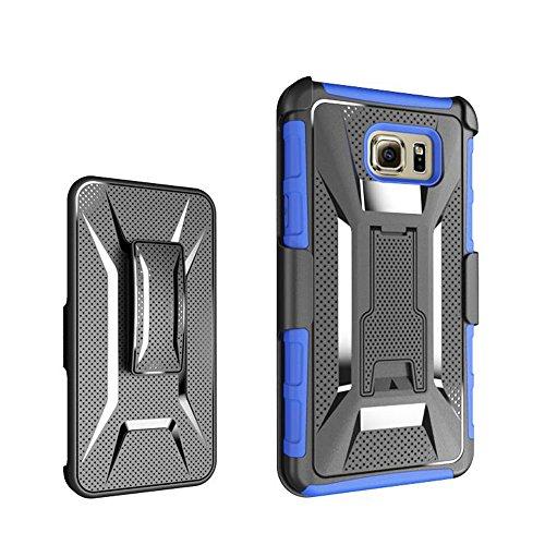 Galaxy Note 5Cas, meaci (TM) Étui pour téléphone pour Samsung Galaxy Note 5Case Combo Defender 3en 1ArmorBox Coque rigide en plastique et bumper en silicone souple avec clip rotatif