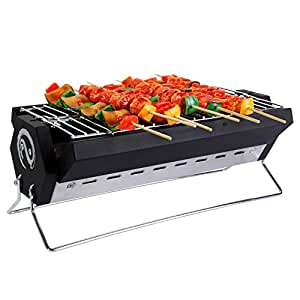 Wolfwise griglia barbeque portatile a carbonella in - Barbecue portatile a carbonella ...