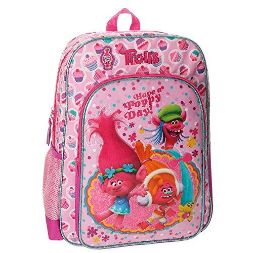 Imagen de trolls happy 2762351  escolar, 40 cm, 15.6 litros, rosa