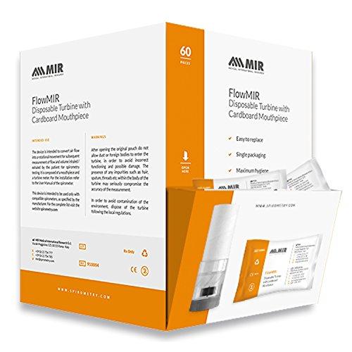 FlowMIR Einwegturbinen für Spirometer inklusive Mundstück 60 Stück