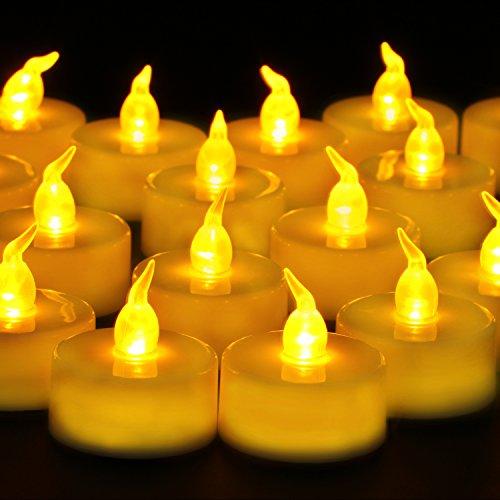 Cookey Flammenlose LED Teelichter Kerzen, 24 Stück Kleine -